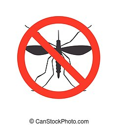 Mosquito Illustration - Mosquito illustration isolated on a...