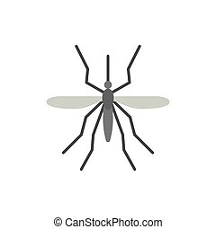 Mosquito insect bite single flat color vector icon