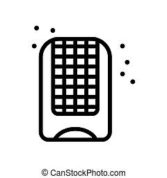 mosquito net icon vector. mosquito net sign. isolated contour symbol illustration