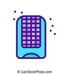 mosquito net protection icon vector. mosquito net protection sign. color symbol illustration