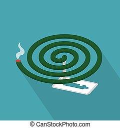 mosquito repellent coil icon- vector illustration