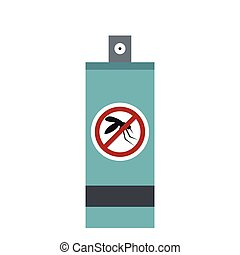 Mosquito repellent spray icon, flat style
