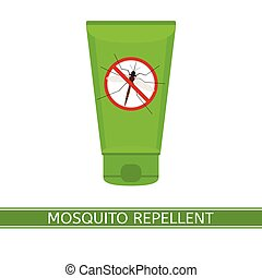 Mosquito Repeller Icon - Vector illustration of mosquito...