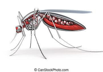 Mosquito. Robot bloodsucker.