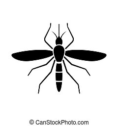 mosquito sign icon isolated vector illustration