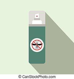 Mosquito spray flat icon