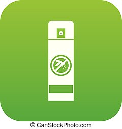 Mosquito spray icon digital green for any design isolated on...