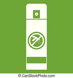 Mosquito spray icon green