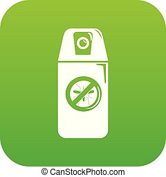 Mosquito spray icon green vector