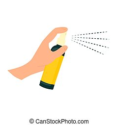 Mosquito spray icon on a white background. Vector illustration