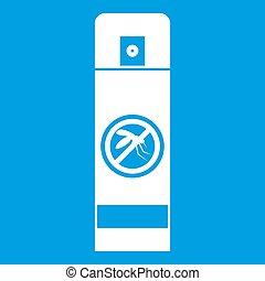 Mosquito spray icon white