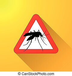 mosquito warning sign concept
