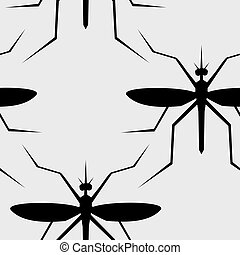 mosquitoes seamless