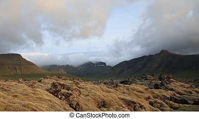 moss-covered lava fields - The expansive moss-covered lava...