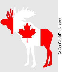 Mosse in flag of canada