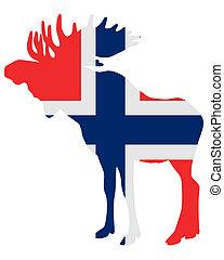 Mosse in flag of norway