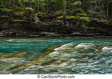 Mossy Cliffs Over McDonald Creek