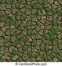 Mossy stone. Seamless texture.