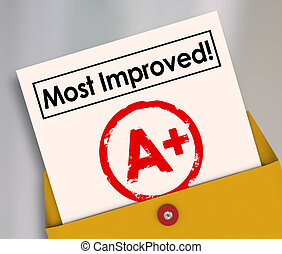 Most Improved Report Card Grade Growth Better Performance -...
