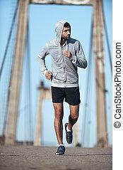 most, jego, precz, znowu, młode przeglądnięcie, zaufany, wyścigi, pełny, training., odkrycie, długość, wzdłuż, natchnienie, człowiek