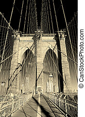 most, miasto, brooklyn, closeup, york, nowy
