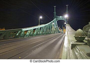 most, nachylać, opróżniać, noc