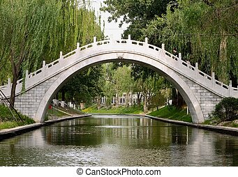 most, od, zizhu, park, beijing, porcelana