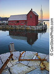 Most photographed famous fishing shack in New England on the...