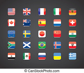 most popular countries flags