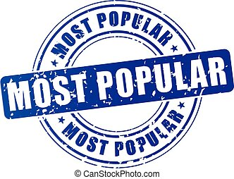 most popular icon - illustration of blue stamp icon for most...