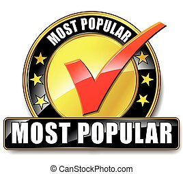 most popular icon - Illustration of most popular icon on...