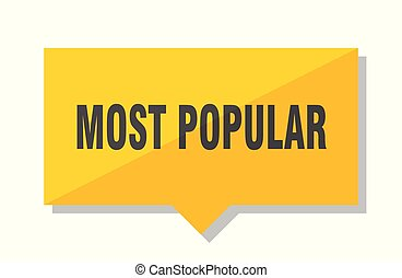 most popular price tag - most popular yellow square price...
