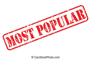 MOST POPULAR red stamp text