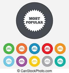 Most popular sign icon. Bestseller symbol.