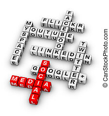 Most Popular Social Networking Sites 3D crossword
