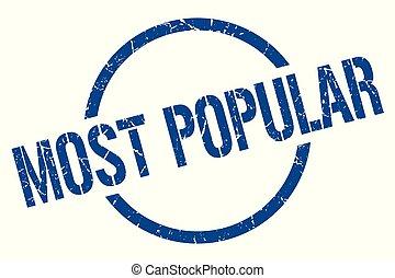 most popular stamp - most popular blue round stamp