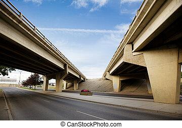 most, przechodzić