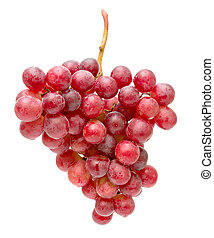 bunch of grapes isolated on white close-up