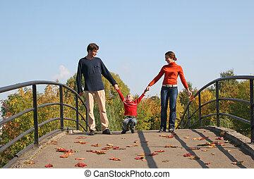 most, rodzina, chłopiec