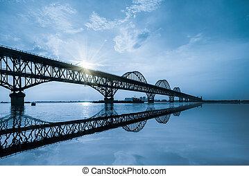 most, rzeka, yangtze, jiujiang