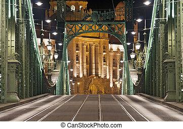 most, tele, opróżniać, noc