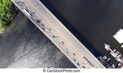 most, tramwaj, pojazd, jazda, przeszły, dżem, handel, ...