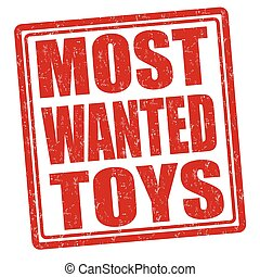 Most wanted toys stamp