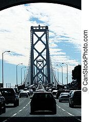 most, zatoka, wozy