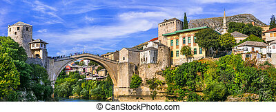Mostar old town . Bosnia and Herzegovina