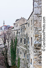 Mostar traditional house in old town, Bosnia and Herzegovina