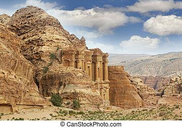 mosteiro, petra, jordânia