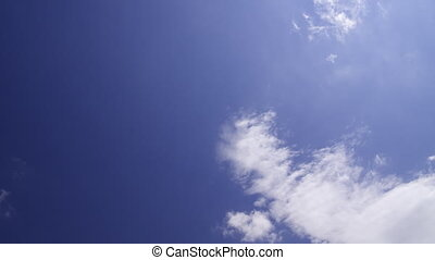 Mostly blue sky with clouds: timelapse