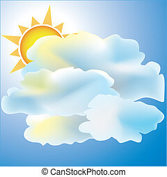 Mostly Cloudy with Sun weather icon - Weather icon mostly...