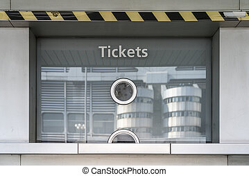 mostrador, boleto, cerrado